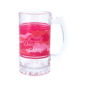 Pretty in Pink by Camo Community - 16 oz Glass Stein