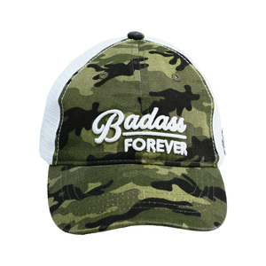 Badass Forever by Camo Community - Green Camo Adjustable Mesh Hat