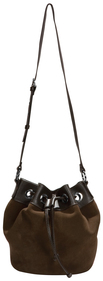 Chocolate Brown Suede Bag by H2Z Handbags - F2011 TUSO Chocolate Suede