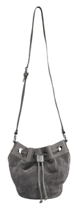 Grey Suede Bucket Bag by Tuso - F2011 TUSO Grey Suede