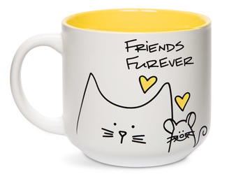 Friends by Blobby Cat - 18oz Ceramic Mug
