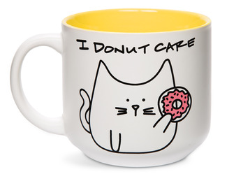 Donut Cat by Blobby Cat - 18oz Ceramic Mug