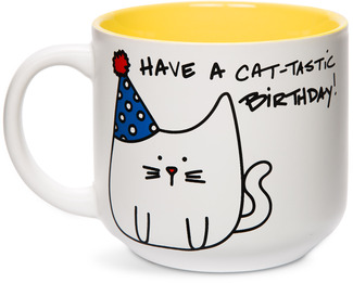 Birthday by Blobby Cat - 18oz Ceramic Mug