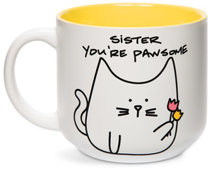 Sister by Blobby Cat - 18oz Ceramic Mug