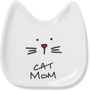"Cat Mom by Blobby Cat - 5"" Ceramic Spoon Rest"
