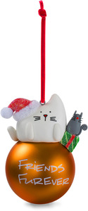 "Friends by Blobby Cat - 3.75"" Polymer Clay Ornament"