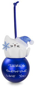 "Snow-one Like You by Blobby Cat - 3.75"" Polymer Clay Ornament"