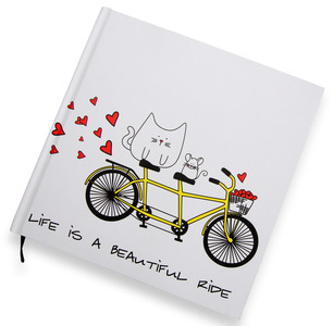 "Beautiful Ride by Blobby Cat - 8"" x 8"" Journal"