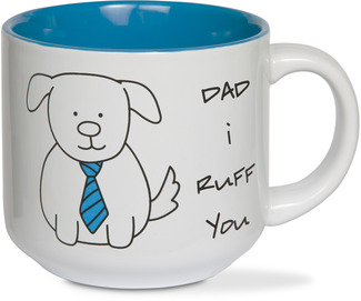Dad by Blobby Dog - 18 oz Ceramic Mug