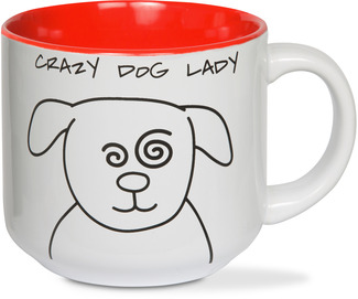 Crazy Dog Lady by Blobby Dog - 18 oz Ceramic Mug