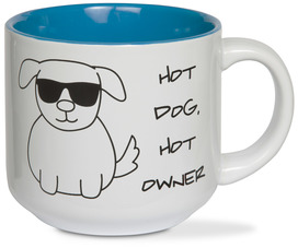 Hot Dog by Blobby Dog - 18 oz Ceramic Mug