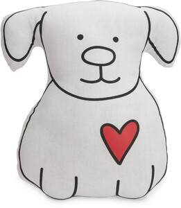 "Woof You by Blobby Dog - 14"" Pillow"