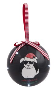 Naughty or Nice? by Blobby Dog - 100 MM Blinking Ornament