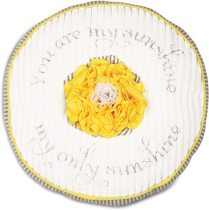 "Sunshine by Itty Bitty & Pretty - 12"" Round Pillow"