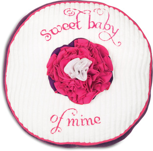 "Grape Jelly by Itty Bitty & Pretty - 12"" Round Pillow"