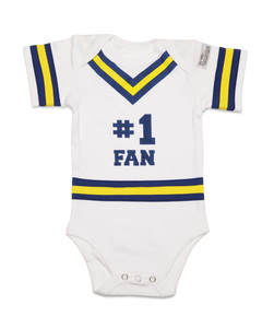 Blue & Gold by Itty Bitty & Pretty - 0-6 Months Infant Onesie