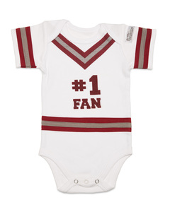 Crimson & Gray by Itty Bitty & Pretty - 0-6 Months Infant Onesie