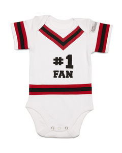 Red & Black by Itty Bitty & Pretty - 0-6 Months Infant Onesie