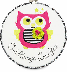 "Sassy Diva by Itty Bitty & Pretty - Owl Always Love You 9.5"" Wall Covering"