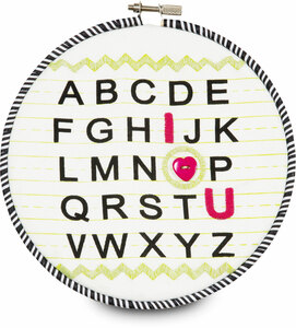 "Sassy Diva by Itty Bitty & Pretty - I Love You Alphabet 6.75"" Wall Covering"