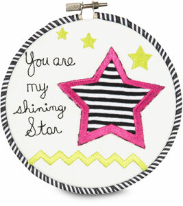 "Sassy Diva by Itty Bitty & Pretty - You are my shining star 5.5"" Wall Covering"
