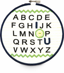 "Grasshopper by Itty Bitty & Pretty - I Love You Alphabet 6.75"" Wall Covering"