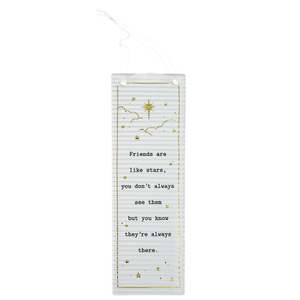 "Friends by Thoughtful Words - 7.25"" Hanging Plaque"