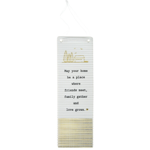 "Home by Thoughtful Words - 7.25"" Hanging Plaque"