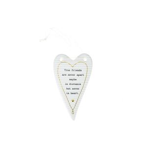 "True Friends by Thoughtful Words - 4"" Hanging Heart Plaque"