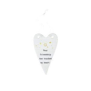"Friendship by Thoughtful Words - 4"" Hanging Heart Plaque"