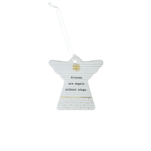 "Angel Friends by Thoughtful Words - 3"" Hanging Angel Plaque"