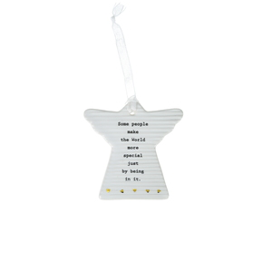 "World More Special by Thoughtful Words - 3"" Hanging Angel Plaque"