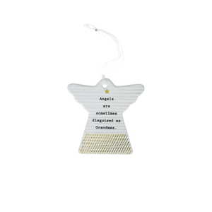 "Grandmas by Thoughtful Words - 3"" Hanging Angel Plaque"