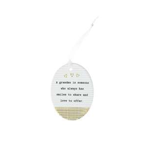 "Grandma by Thoughtful Words - 3.5"" Hanging Oval Plaque"