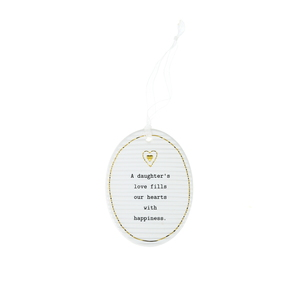 "Daughters by Thoughtful Words - 3.5"" Hanging Oval Plaque"