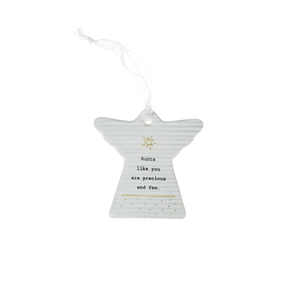 "Aunt by Thoughtful Words - 3"" Hanging Angel Plaque"
