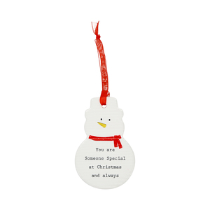 "Someone Special by Thoughtful Words - 3.75"" Snowman Ornament"