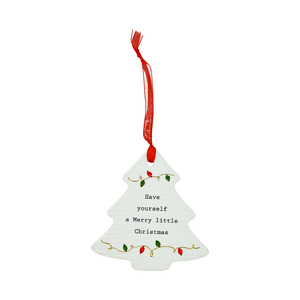 "Merry Little Christmas by Thoughtful Words - 3.75"" Christmas Tree Ornament"