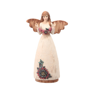"Love by Simple Spirits - 7.5"" Angel Holding Hearts"