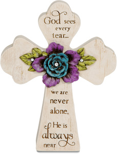 "God is Always Near by Simple Spirits - 5"" x 4"" Self Standing Cross"