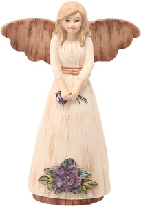 "Mother by Simple Spirits - 4.5"" Angel Holding Flowers Ornament"