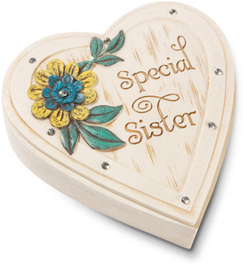 "Sister by Simple Spirits - 4"" Heart Keepsake Box"