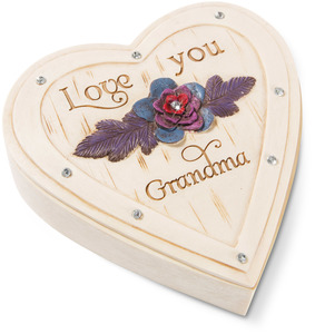 "Grandma by Simple Spirits - 4"" Heart Keepsake Box"