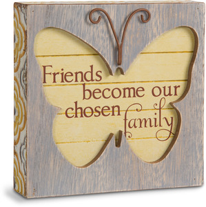 "Friend by Simple Spirits - 4.5"" Butterfly Plaque"