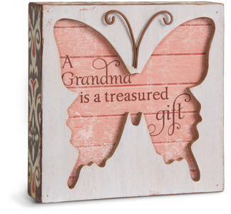 "Grandma by Simple Spirits - 4.5"" Butterfly Plaque"