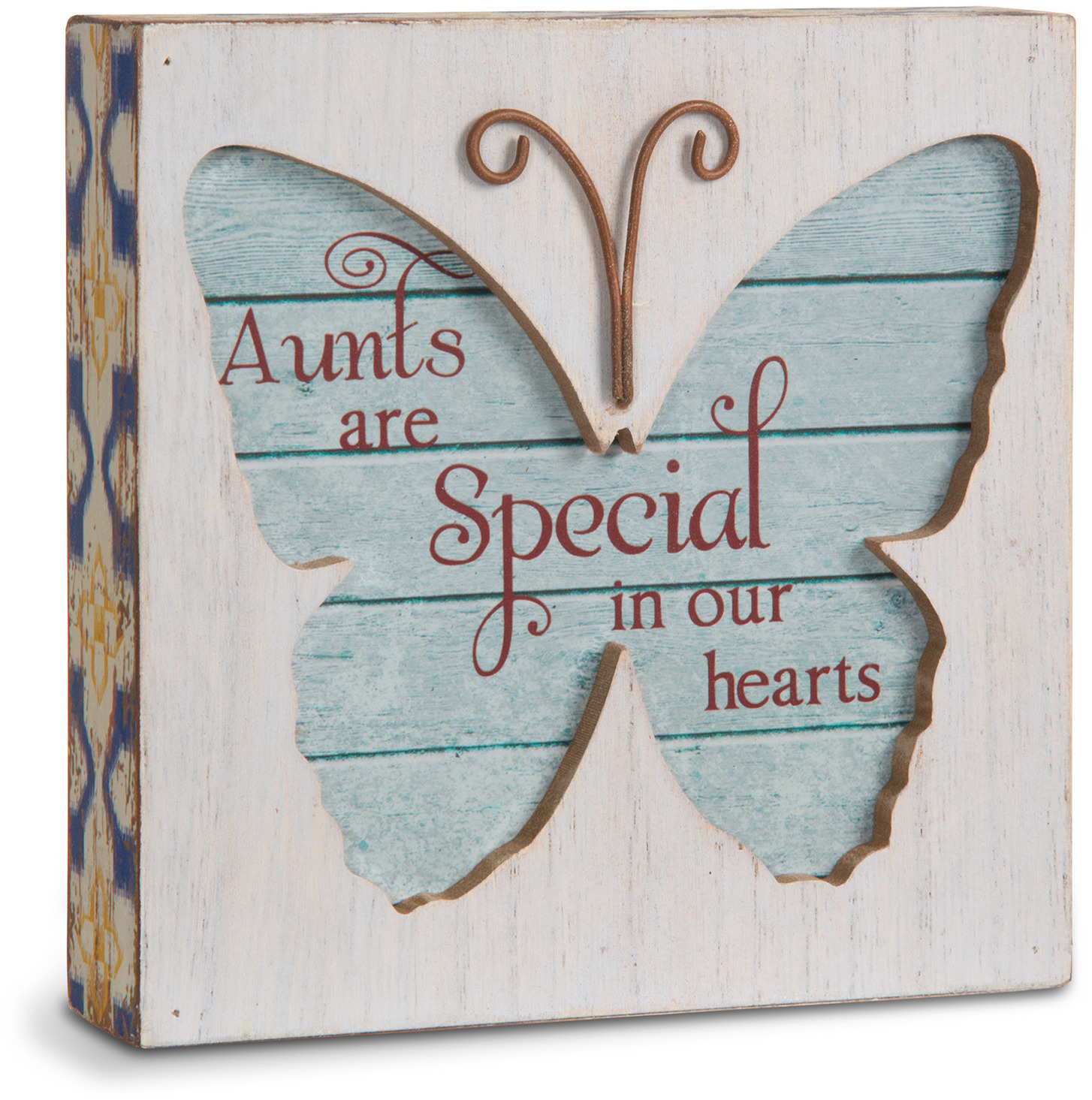 "Aunt by Simple Spirits - Aunt - 4.5"" Butterfly Plaque"