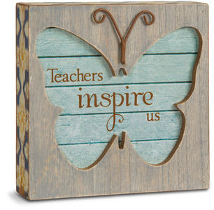 "Teacher by Simple Spirits - 4.5"" Butterfly Plaque"