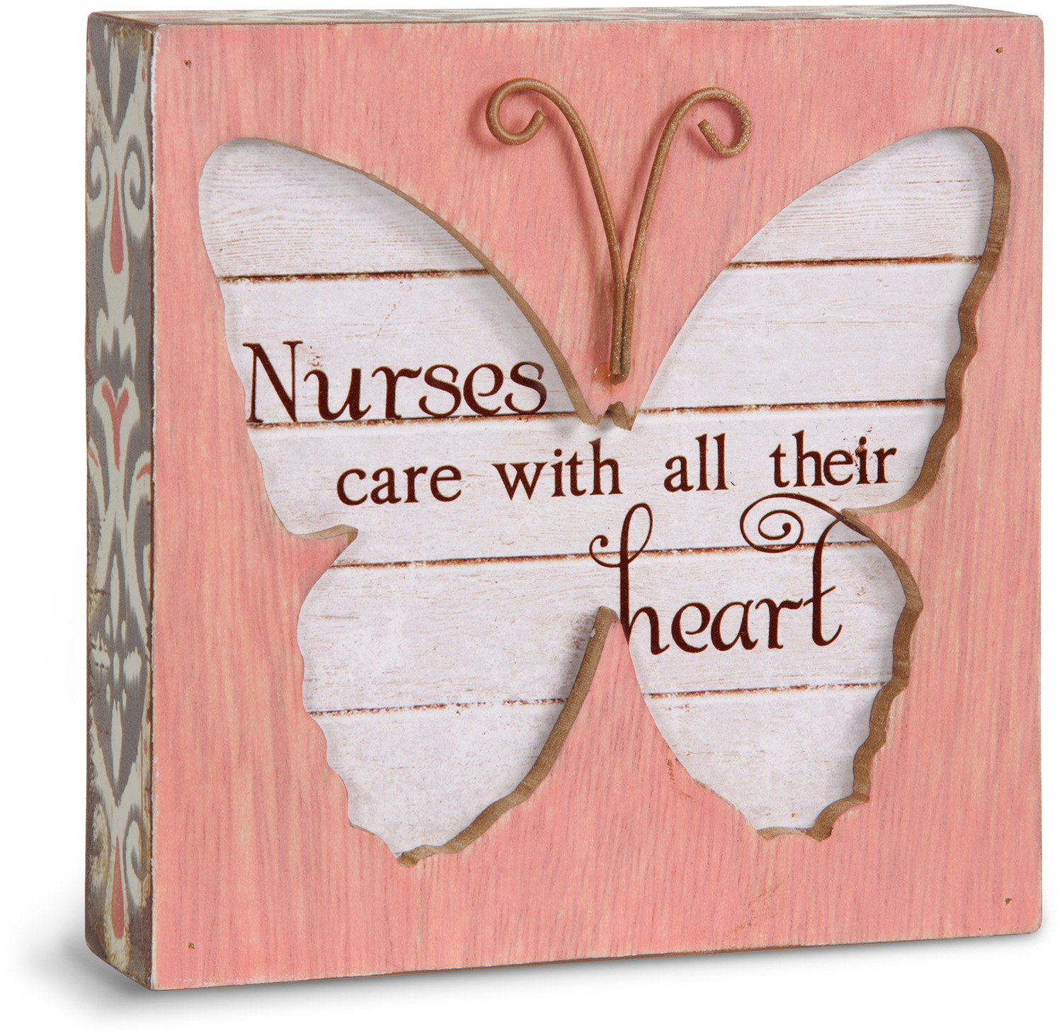 "Nurse by Simple Spirits - Nurse - 4.5"" Butterfly Plaque"