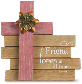 "Friend by Simple Spirits - 6"" Cross Plaque"