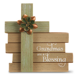 "Grandma by Simple Spirits - 6"" Cross Plaque"
